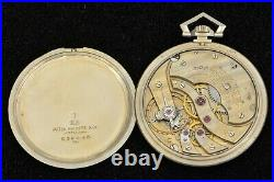 Vintage 18k solid gold Patek Philippe Pocket Watch with Case and Documents