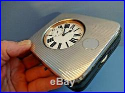 Vintage 1922 Goliath Pocket Watch With Silver Mappin & Webb Travel Case