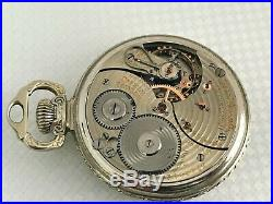 Vintage 1938 BALL HAMILTON OFFICIAL RAILROAD STANDARD Pocket Watch with BALL CASE