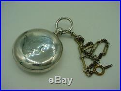 Vintage Awc Waltham P S Bartlett CIVIL War Pocket Watch 1864 Coin Silver Case