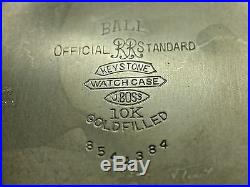 Vintage Ball Hamilton 999b 21 Jewel Official Railroad Ball Standard Case 2c