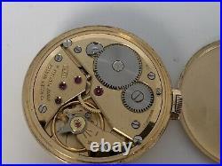 Vintage Bulova Pocket Watch 16AC 17 jewels 10K rolled gold plate case 43mm