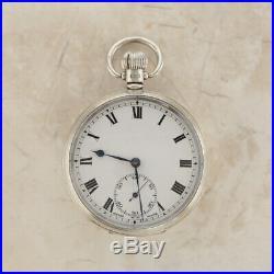 Vintage Dennison Case Pocket Watch Sterling Silver 1931