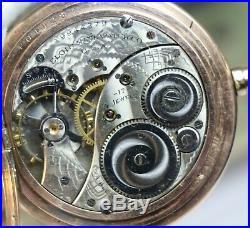 Vintage Elgin Fancy Multi Color Dial Enamel G F Hunting Case Pocket Watch 1800s