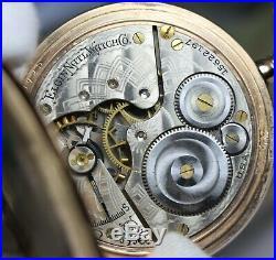 Vintage Elgin Fancy Multi Color Dial G F Hunting Case Pocket Watch Circa 1800s