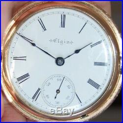 Vintage Elgin P/W 18 SIZE HUNTER CASE EXQUISITE VERMICELLI ENGRAVING c. 1897