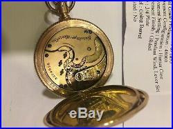 Vintage Gold Plated pocket watch ELGIN c 1894 Full hunter case