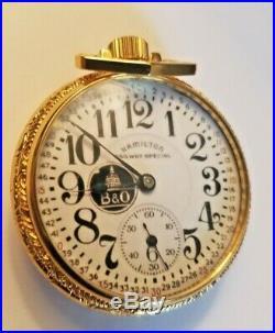 Vintage Hamilton 974, 16s, 17J, Salesman Display Case Pocket Watch c 1923