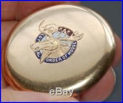 Vintage P/W SOUTH BEND 21 JEWELS Original Case Loyal Order of Moose Logo
