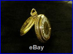 Vintage Swiss Mechanical Alarm Pocket Watch Gold Plated Case (watch The Video)