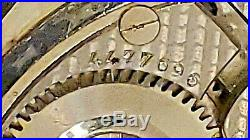 Vintage Unusual ILLINOIS 23J 12S 410 Model 5 with 14k White GF Hex case rare