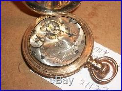 Vtg. 1893 Columbus Watch Co. North Star Movement Pocket Watch/GF Hunter's Case