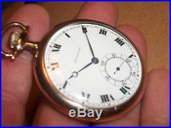 Vtg. 1920- Hamilton 17 Jewel Pocket Watch/910 Movement Running/GF Montauk Case
