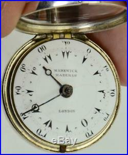 WOW! Full set Markwick Markham triple case Verge Fusee watch for Ottoman market