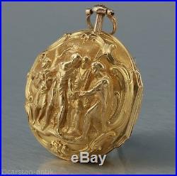 Walker & Co. London signed 22k Gold Repoussé case Pocket watch ca. 1780