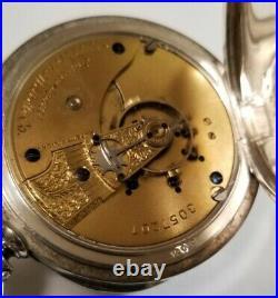 Waltham 18S. 15 jewel adjusted (1886) high grade No. 15, coin silver 3oz case