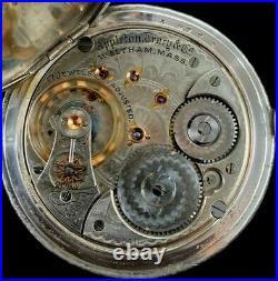 Waltham 18S 17J Appleton Tracy Extra Fancy Dial Silver Hunter Case Extra Fine