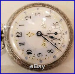Waltham 18S. 7 Jewels fancy dial (1889) model 1883 grade 1, spaptan case