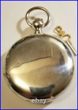 Waltham 18S P. S. BARTLETT 11J. Adj. Key wind 5oz Sterling Silver Hunter case