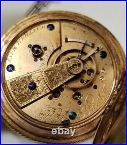 Waltham 18S P. S. BARTLETT (1871) key wind 11 jewels adjusted g. F. Hunter case