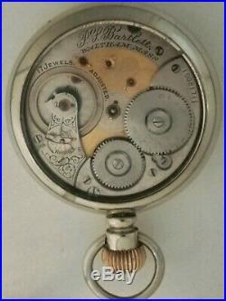 Waltham 18S. P. S. Bartlett 17 jewels adj. Two-tone glass back display case