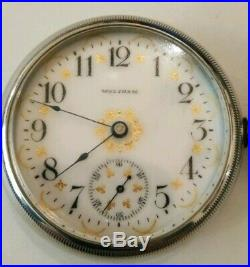Waltham 18S P. S. Bartlett fancy dial 17 jewels adjusted (1900) oresilver case