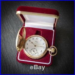 Waltham Gold Filled 17 Jewel Full Hunter Pocket Watch 20 Year MOON Case with Box