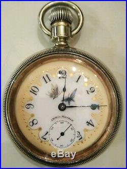 Waltham P. S. Bartlet 18S. 17 jewel super fancy dial (1906) nickel silver case