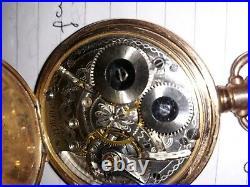Waltham Pocket Watch 9k Plated Gold & Denison Watch Case Company