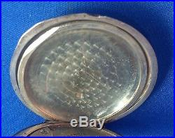 Waltham Ps Bartlett Pocket Watch, Full Hunter Engraved Coin Silver Case, 17j
