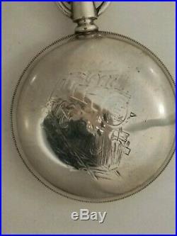 Waltham RARE Locomotive dial & case Appleton Tracy & Co. (1887) 18 size 15 jewels