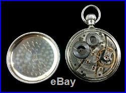 Waltham Riverside 16 Size19 Jewel Railroad Fancy Silver Case Extra Fine