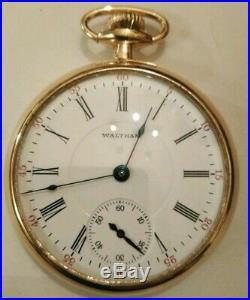 Waltham Riverside 16 size 19 jewel adjusted (1904) 14K. Gold filled case nice
