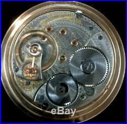Waltham Vanguard 18s 23J Extra Fancy Dial Fancy Gold Filled Case Near Mint