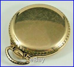 Waltham Vanguard 24 Hour Dial Pocket Watch 23j 16s 1919 10K GF Case, Running
