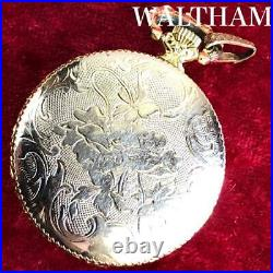 Waltham pocket watch with beautiful Roman numerals Hunter case Antique