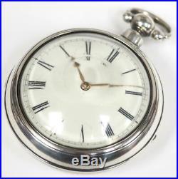 William IV Pair Cased Pocket Watch Fusee Verge Solid Silver Pocket Watch C1834