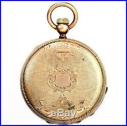 Womens Elgin Hunter Case Keywind Pocket Watch Ca1871 10 Size